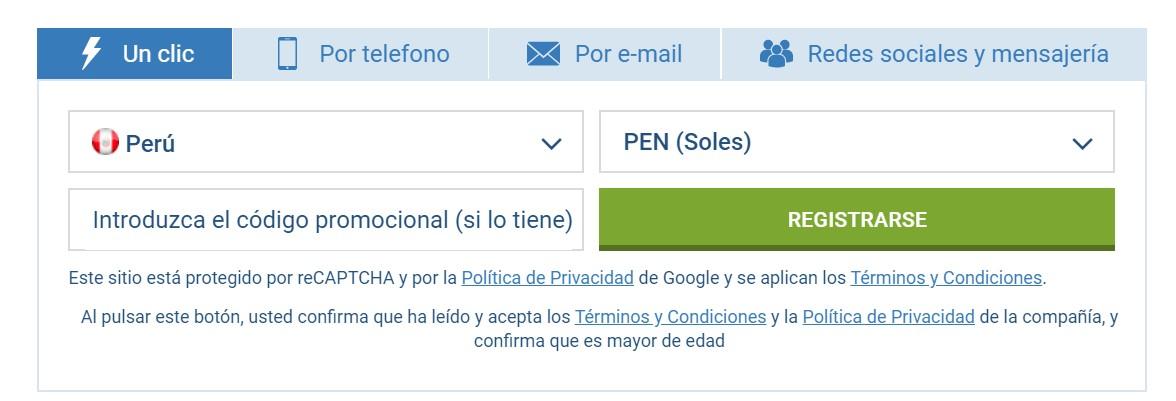 Cómo funciona 1xBet registro en Perú